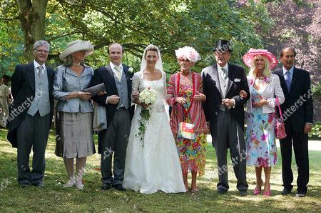 Maximilian Weiner and Vanessa von Bismarck with their respective families