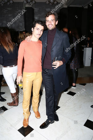 Stock Photo of Niko Karamyan & Simon Haas attends the opening reception for Frieze London in the Mirror Room at Rosewood London in partnership with UTA and Artsy