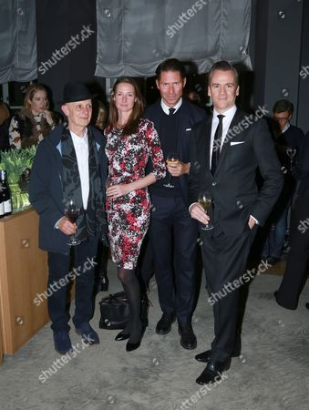 David Remfry, Guests & Micheal Bonsor attends the opening reception for Frieze London in the Mirror Room at Rosewood London in partnership with UTA and Artsy