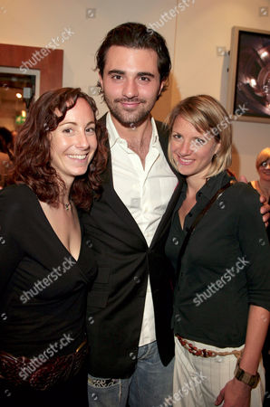 Polly Graham with Darius Danesh and unknown