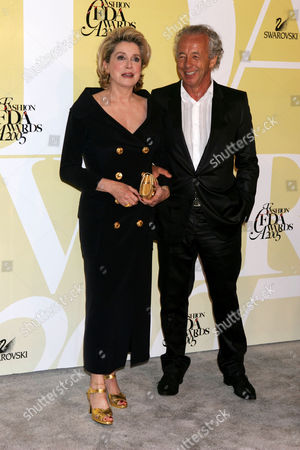 Stock Picture of Catherine Deneuve and Gilles Bensimon