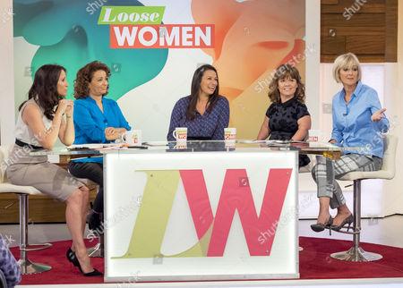 Andrea McLean, Nadia Sawalha, Lisa Francesca Nand, Sam Davis and Jane Moore.