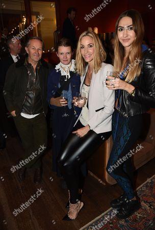 Nick Ashley with sister and Olivia Butcher and Lisa Butcher