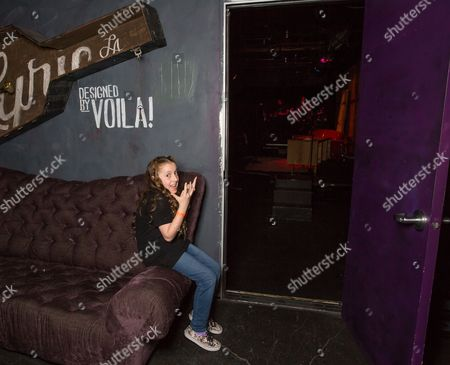 Saffron Herndon waits to perform at her first west coast show