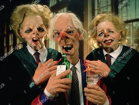 'Spitting Image' Margaret Thatcher and Denis Thatcher