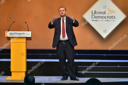 Stock Picture of Liberal Democrat Party Conference At The Scottish Exhibition And Conference Centre Glasgow. - Minister Of State For Pensions Steve Webb Mp.
