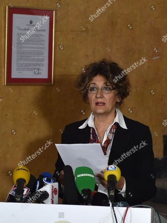 Doctor Jovanca Kostovaska Member Of The Contageous Diseases Commission To The Ministry Of Health Addresses The Media At The Ministry. A British Businessman Who May Have Been Killed By The Ebola Virus In Macedonia Was Vomiting And Shaking For Two Days Before He Died His Travelling Companion Revealed Yesterday. Father-of-three Colin Jaffray 58 Travelled With Business Partner Michael English From The Uk To The Balkan State To Try To Set Up A Fish Farm Business. Health Officials In Macedonia Sparked An International Panic In The Aftermath Of His Death By Claiming He Was Displaying Some Of The Symptoms Of The Disease. But Mr English Said Last Night It Was 'crazy' To Think His Friend Was Suffering From Ebola - Because Mr Jaffray Had Not Travelled To Africa For Six Years. Claims That His Friend Died As A Result Of Drinking Too Much Alcohol Were Also Denied.