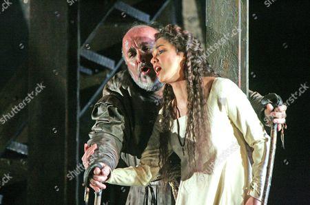 'Rigoletto' at the Royal Opera House - Paolo Gavanelli and Anna Netrebko