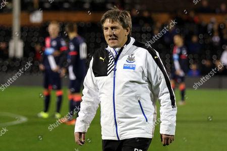 Newcastle Under 21 Manager, Peter Beardsley during Fulham U21 vs Newcastle United U21 at Craven Cottage, London