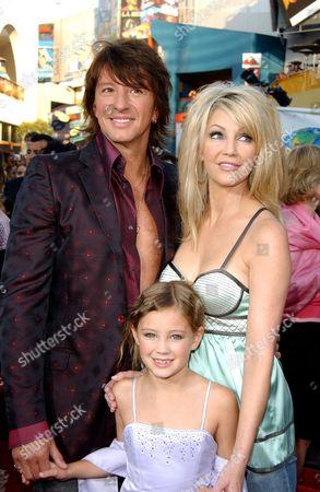 Richie Sambora, daughter Ava Elizabeth and Heather Locklear