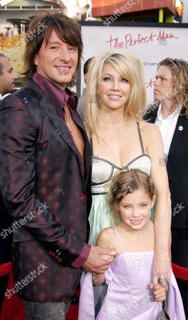Richie Sambora, Heather Locklear and daughter Ava Elizabeth