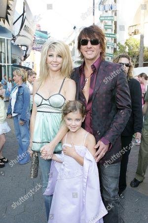 Heather Locklear, daughter Ava Elizabeth and Richie Sambora