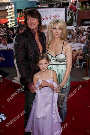 Stock Picture of Richie Sambora, Heather Locklear and Daughter Ava Elizabeth