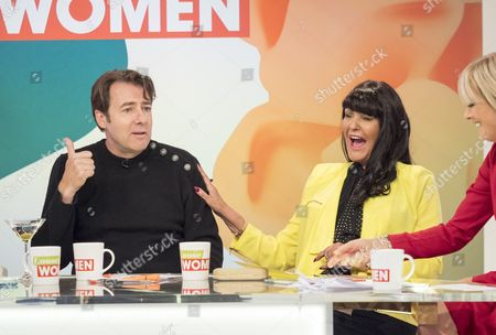 Stock Photo of Jonathan Ross, Hilary Devey and Jane Moore.
