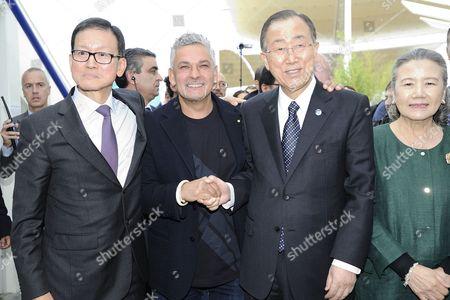 Roberto Baggio, UN Secretary-General Ban Ki-moon