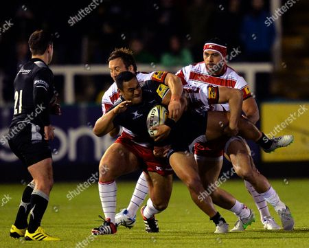 Editorial image of Aviva Premiership Rugby 2015/16 Newcastle Falcons v Gloucester Kingston Park, Brunton Rd, Newcastle upon Tyne, United Kingdom - 16 Oct 2015