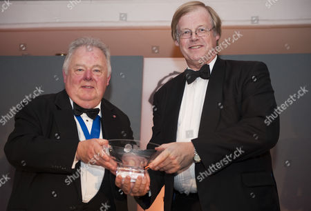 Stock Picture of Lifttime Achievement Award keith Madeley with winner Sir David Wootton