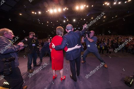 Nicola Sturgeon MSP, Party Leader and First Minister of Scotland, and Stewart Hosie MP (Dundee East), Deputy Leader of the SNP and SNP Westminster Group Leader (Economy), at the end of conference