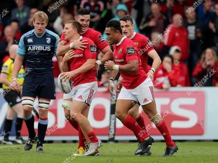 Editorial image of Guinness PRO12, Irish Independent Park, Cork, Munster vs Cardiff Blues - 17 Oct 2015