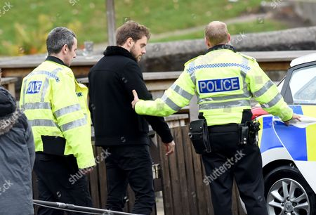 James Atherton as Jamie is led away by police
