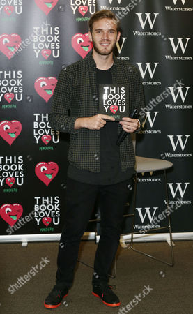 Editorial photo of Felix Kjellberg 'This Book Loves You' book signing, Waterstones Piccadilly, London, Britain - 18 Oct 2015