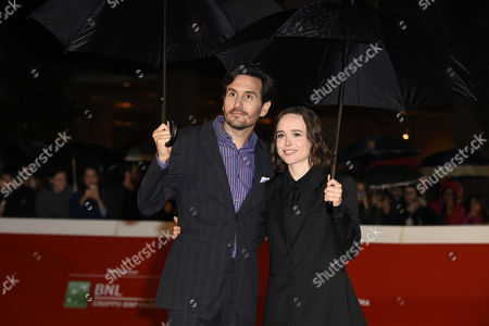 The director Peter Sollett, Ellen Page