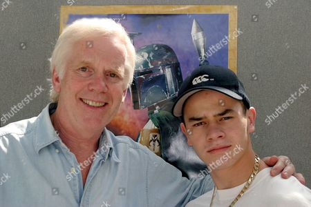 Stock Photo of Jeremy Bulloch and Daniel Logan