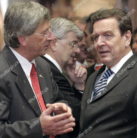 Jean-Claude Juncker, Gerhard Schroeder