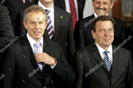 Tony Blair and Gerhard Schroeder
