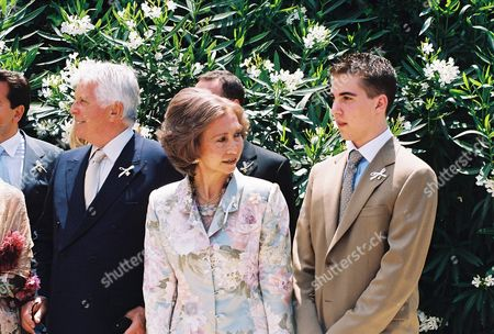 Mr Miller, Queen Sofia and Prince Philippos