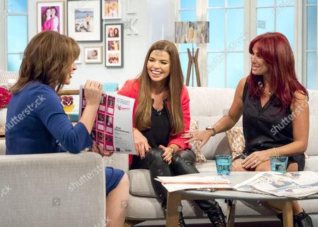 Lorraine Kelly with Tanya Bardsley and Lauren Simon