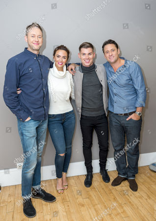 Stock Picture of James Redmond, Jennifer Metcalfe, Kieron Richardson and Nick Pickard