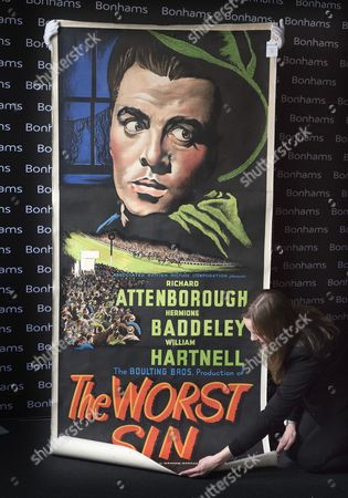 Film poster for 'The Worst Sin' 1947 (est. £1,000-1,5000)