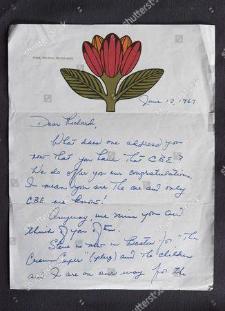 Letter from Mrs Steve McQueen