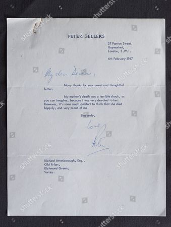 Letter from Peter Sellers