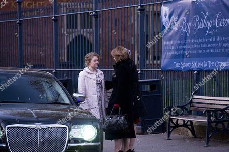 Jane Watkins [Sally Messham], Angela Purefoy [Siobahn Finneran] and Rowenna Napier [Leila Mimmack].
