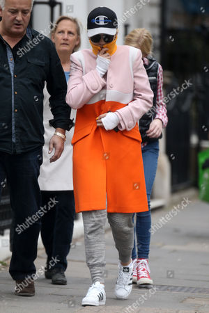 Stock Photo of Rita Ora and her father Besnik Sahatciu