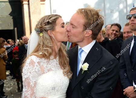 Stock Picture of Milana Schoeller with her husband Ludvig Andersson