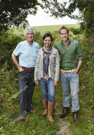 Stock Image of Paul Heiney, Liz Bonnin and Ben Fogle