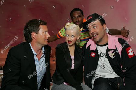 Michael Burns, Christina Aguilera, Larry  & David LaChapelle