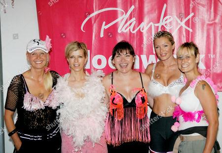 Julie Peasgood, Kate Garraway, Lorraine Kelly, Nell McAndrew and Luisa Bradshaw White