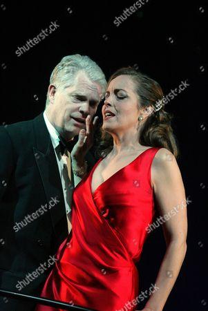 'Private Lives' at the Theatre Royal Bath - Michael Siberry (Elyot) and Greta Scacchi (Amanda)