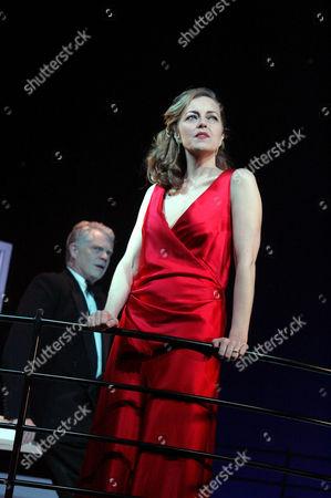 'Private Lives' at the Theatre Royal Bath - Greta Scacchi (Amanda) and Michael Siberry (Elyot)