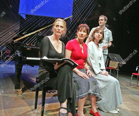 'Three Women and a Piano Tuner' at the Hampstead Theatre - Eleanor David, Jane Gurnett, Phoebe Nicholls and Gareth David-Lloyd