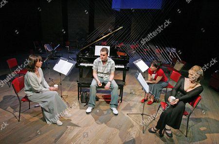 'Three Women and a Piano Tuner' at the Hampstead Theatre - Phoebe Nicholls, Gareth David-Lloyd, Jane Gurnett and Eleanor David