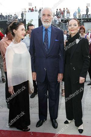 Christine Kaufmann, Christopher Lee and wife Birgit