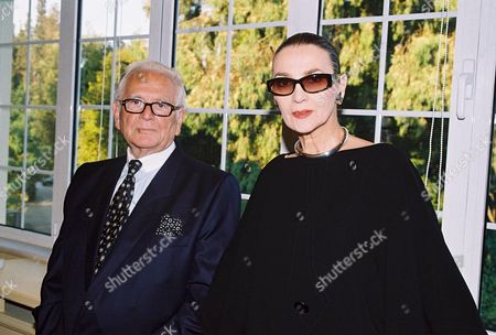 Pierre Cardin with his 'first muse' Maryse Gaspard