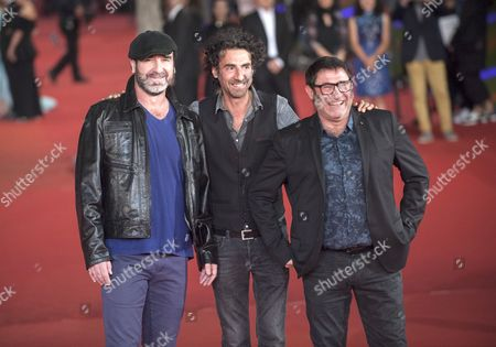 Stock Picture of Eric Cantona, Sergi Lopez, Laurent Laffargue