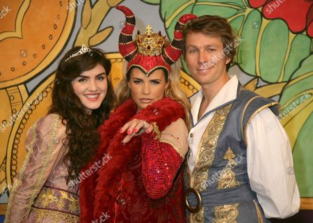 Katie Price as Maleficent The Wicked Fairy, Carla Nelly and Ben Faulks