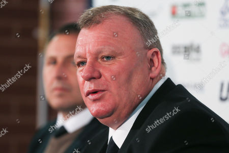 Stock Picture of New Leeds manager Steve Evans is unveiled at a press conference with Martin Glover head of recruitment at Elland Road on October 19th 2015